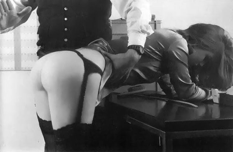 Bend over desk spank